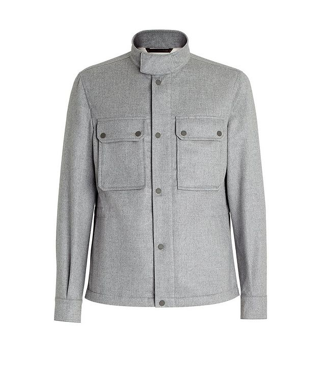 Water-Repellent Cashmere Field Jacket picture 1