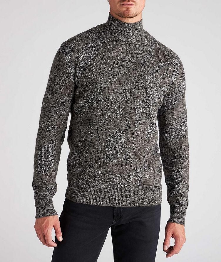 Graphic Jacquard Cashmere Knit Sweater image 1