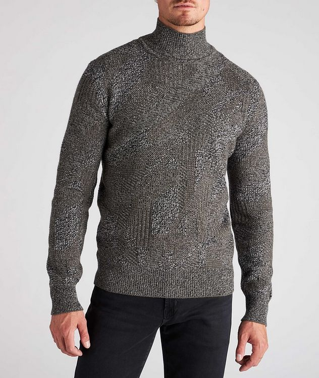 Graphic Jacquard Cashmere Knit Sweater picture 2