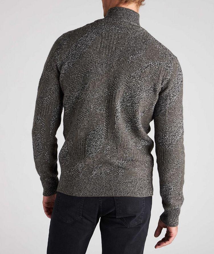 Graphic Jacquard Cashmere Knit Sweater image 2