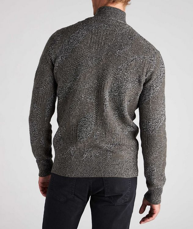 Graphic Jacquard Cashmere Knit Sweater picture 3