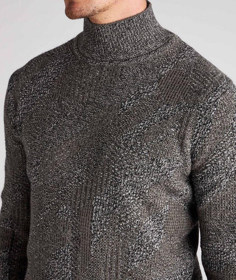 Graphic Jacquard Cashmere Knit Sweater image 3