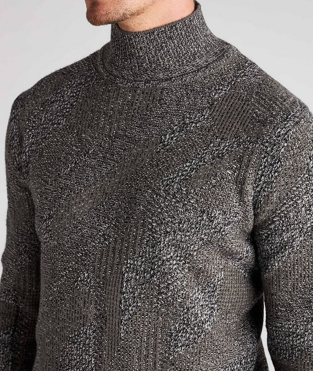 Graphic Jacquard Cashmere Knit Sweater picture 4