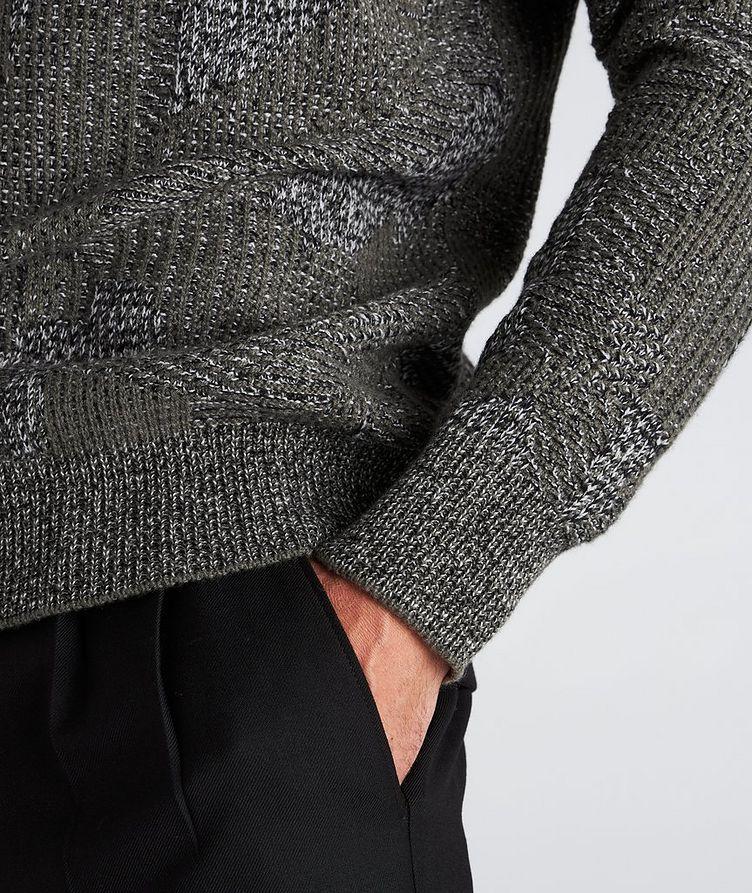 Graphic Jacquard Cashmere Knit Sweater image 4