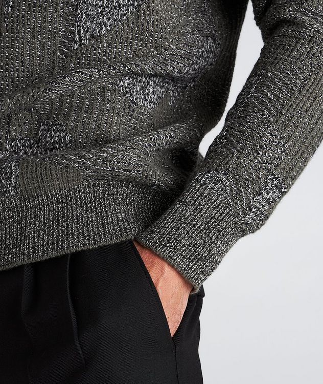 Graphic Jacquard Cashmere Knit Sweater picture 5