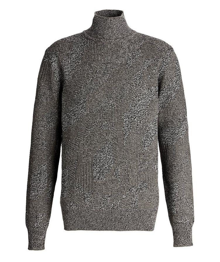 Graphic Jacquard Cashmere Knit Sweater image 0