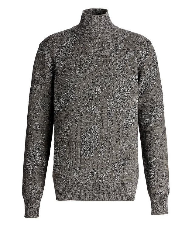 Graphic Jacquard Cashmere Knit Sweater picture 1