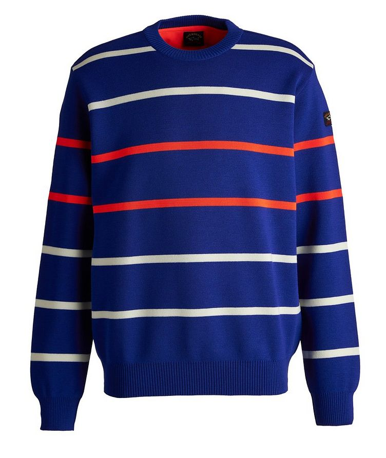 Striped Wool-Blend Sweater image 0