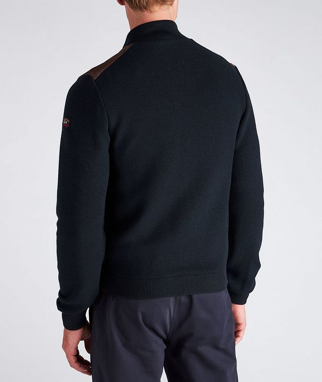 Water-Repellent Hybrid Knit Leather Jacket picture 5
