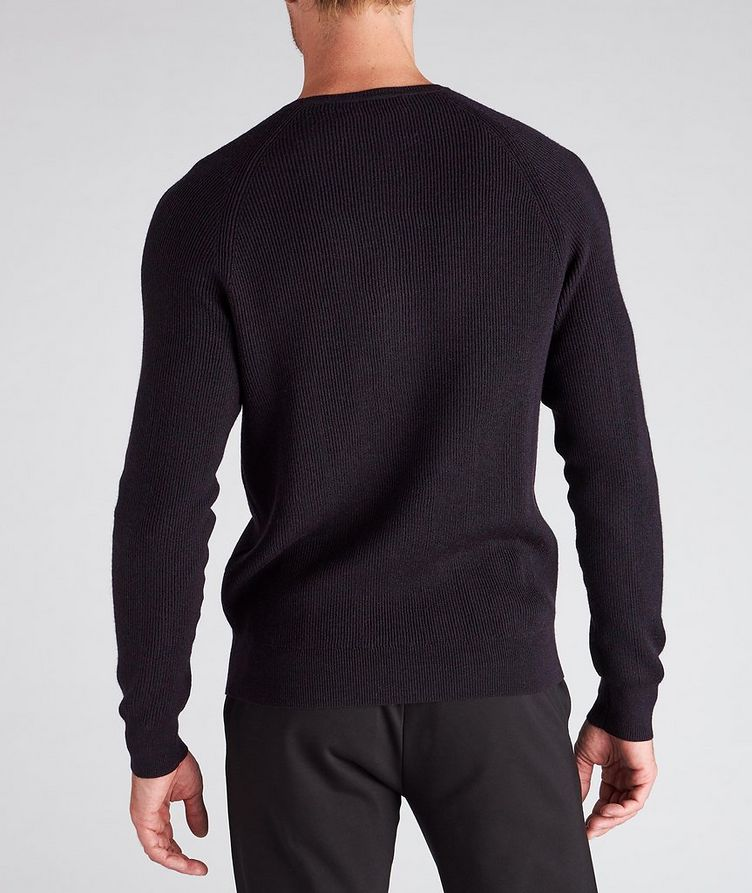 Ribbed Knit Wool Sweater image 2