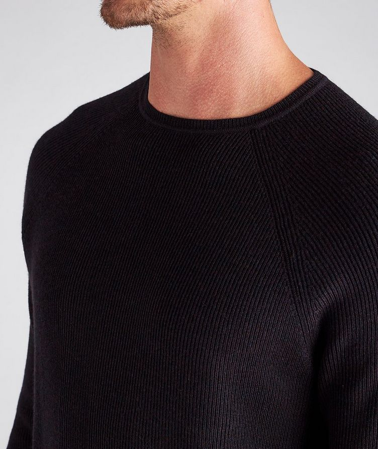 Ribbed Knit Wool Sweater image 3