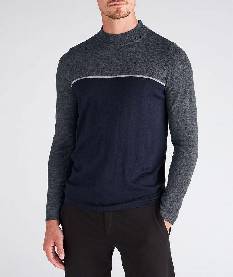 Merino Wool Mock Neck Sweater image 1