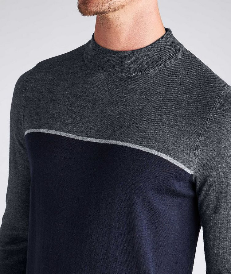 Merino Wool Mock Neck Sweater image 3