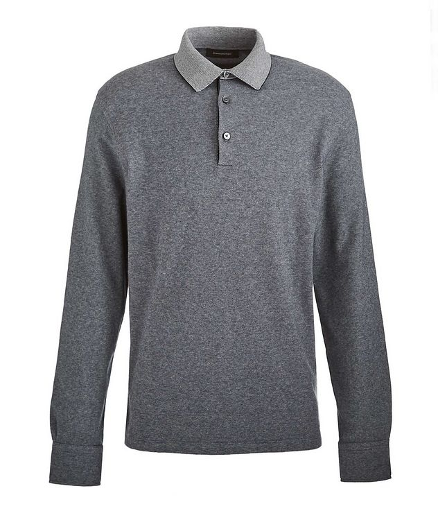 Long-Sleeve Cotton Polo picture 1