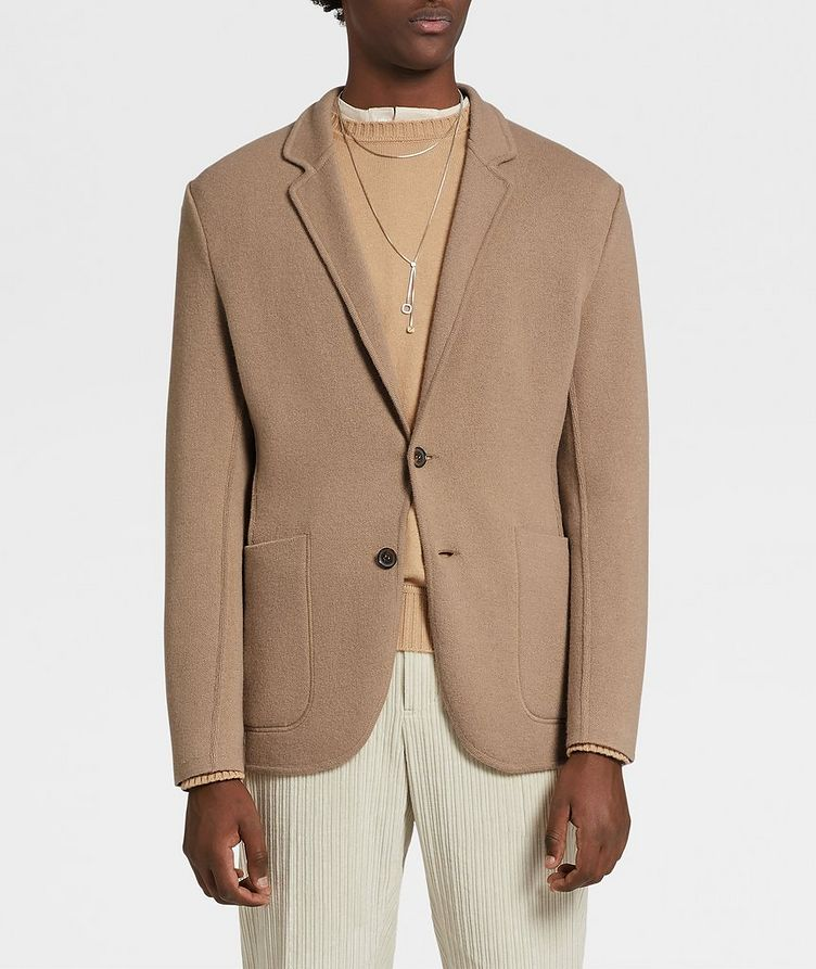 Unconstructed Wool and Cashmere Knit Jacket image 1