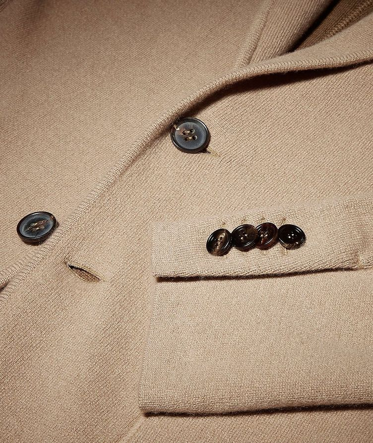 Unconstructed Wool and Cashmere Knit Jacket image 3