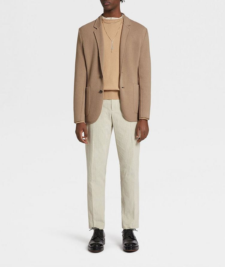 Unconstructed Wool and Cashmere Knit Jacket image 4