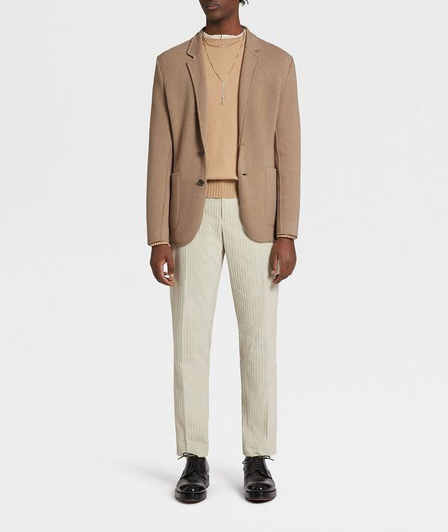 Unconstructed Wool and Cashmere Knit Jacket picture 5