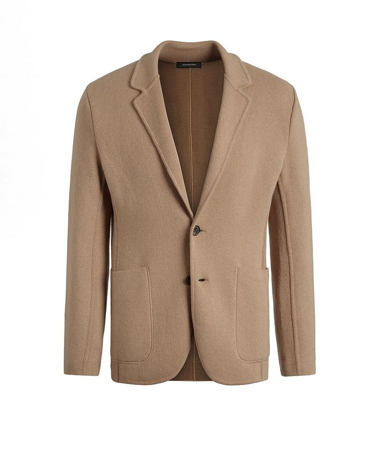 Unconstructed Wool and Cashmere Knit Jacket image 0