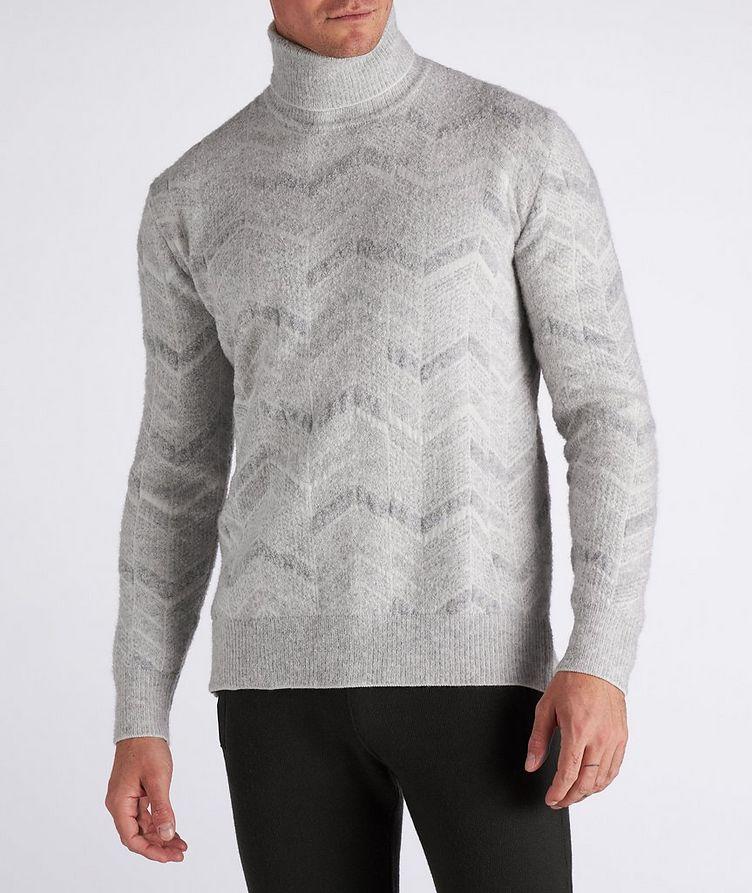 Chevron Cashmere-Wool-Silk Turtleneck image 1