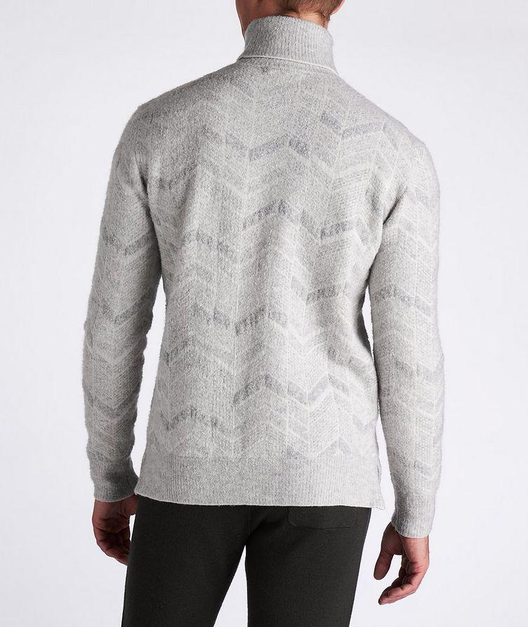 Chevron Cashmere-Wool-Silk Turtleneck image 2