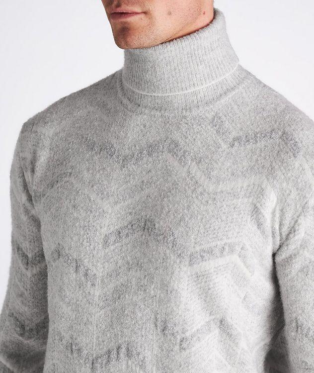 Chevron Cashmere-Wool-Silk Turtleneck picture 4