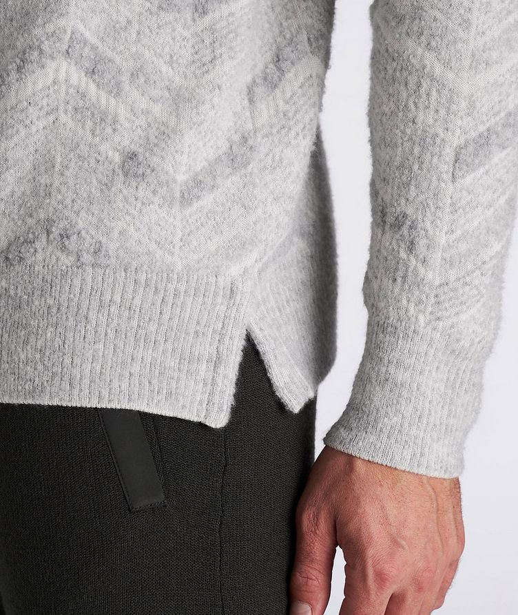 Chevron Cashmere-Wool-Silk Turtleneck image 4