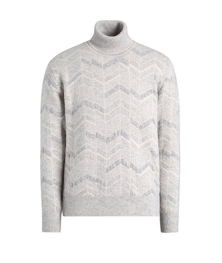 Chevron Cashmere-Wool-Silk Turtleneck image 0
