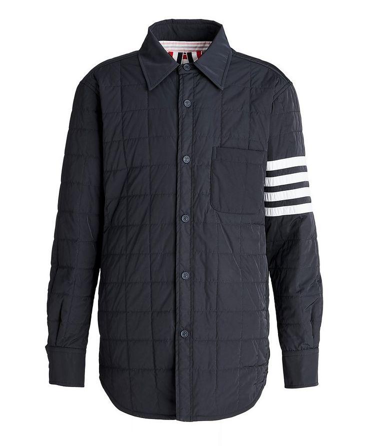 Four-Bar Stripe Down Shirt Jacket image 0