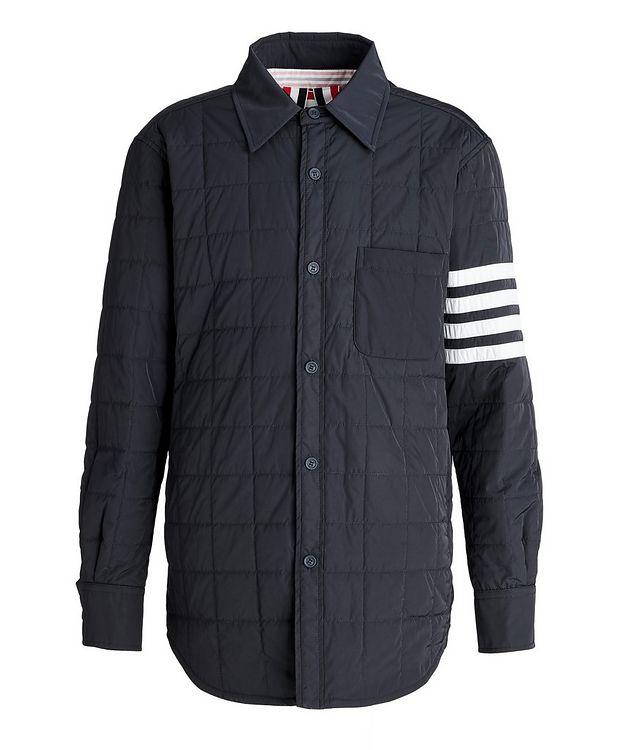 Four-Bar Stripe Down Shirt Jacket picture 1