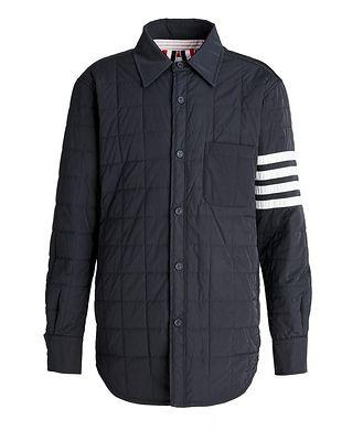 Thom Browne Four-Bar Stripe Down Shirt Jacket