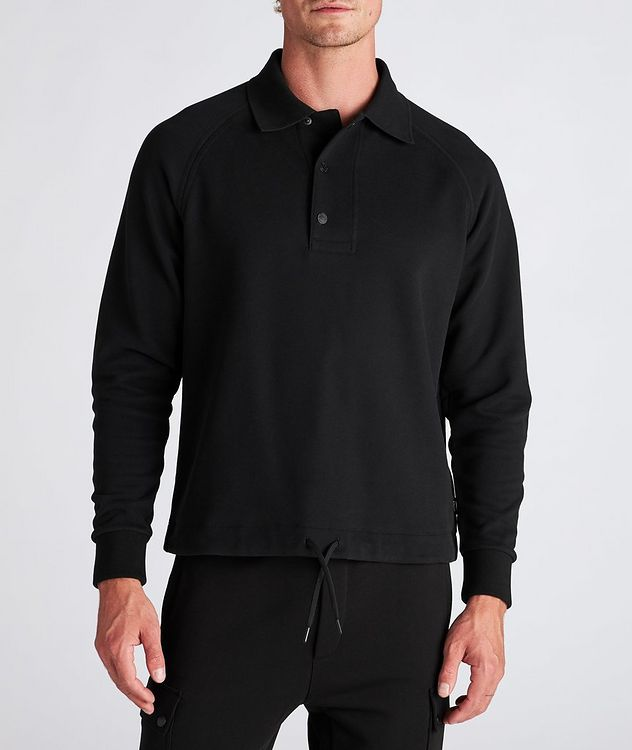 Recycled Cotton Polo Sweatshirt picture 2