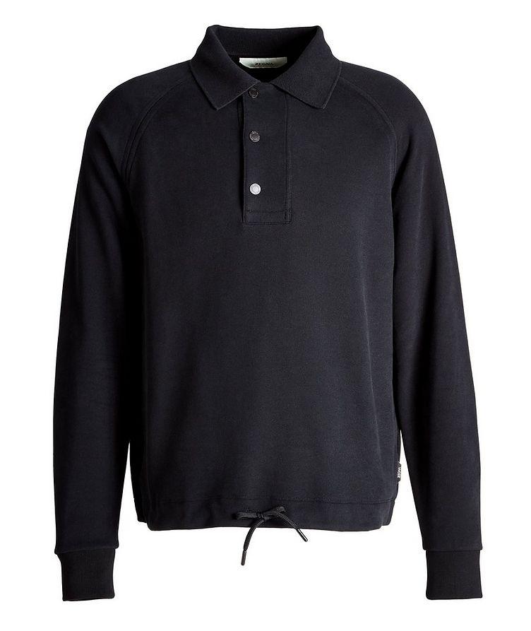 Recycled Cotton Polo Sweatshirt image 0