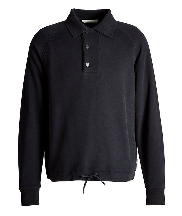 Recycled Cotton Polo Sweatshirt picture 1