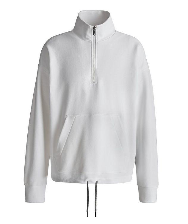 Half-Zip Recycled Cotton Sweatshirt picture 1
