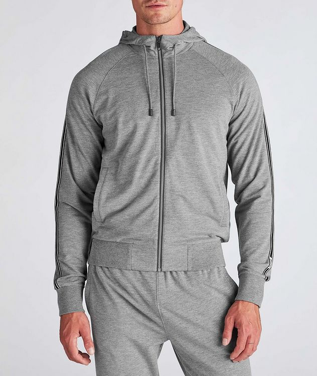 Zip-Up Stretch-Cotton-Blend Hoodie picture 2