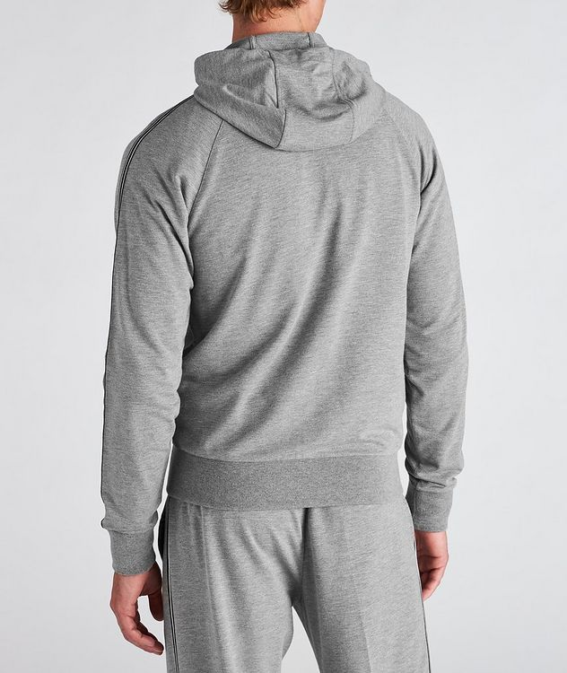 Zip-Up Stretch-Cotton-Blend Hoodie picture 3