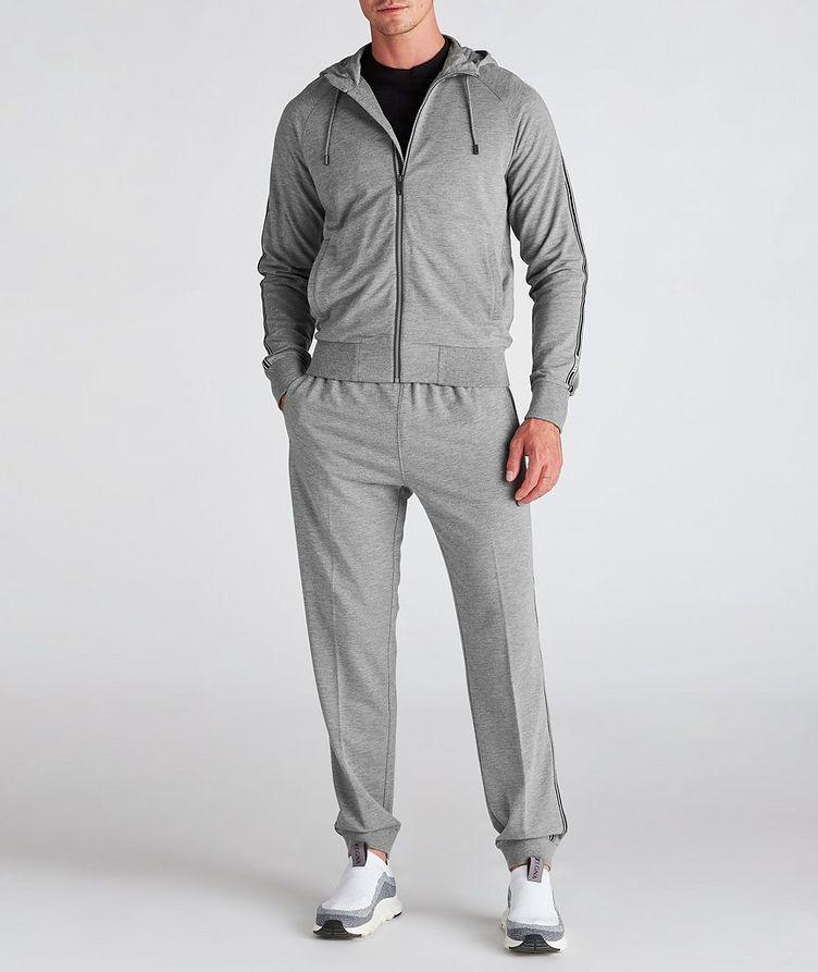 Zip-Up Stretch-Cotton-Blend Hoodie image 5