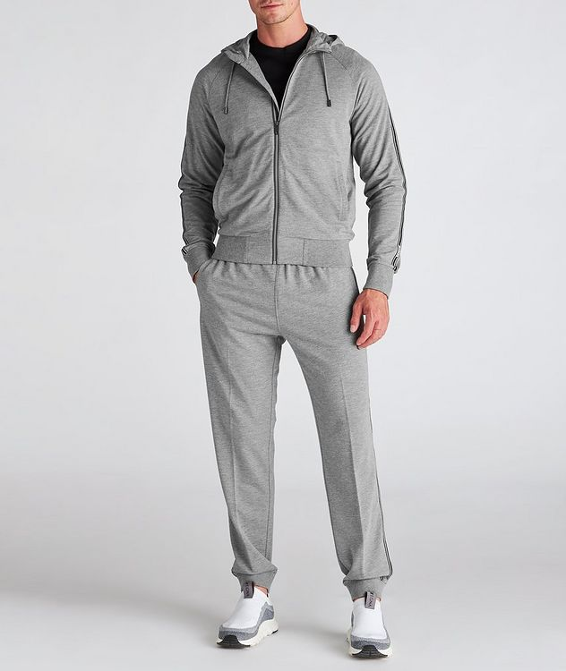 Zip-Up Stretch-Cotton-Blend Hoodie picture 6