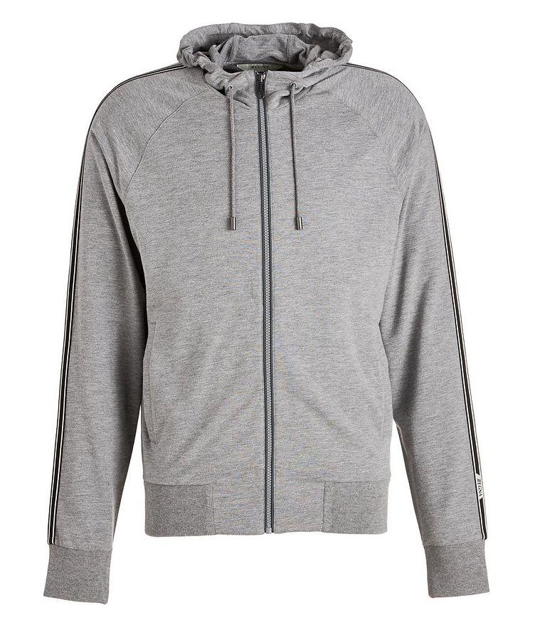 Zip-Up Stretch-Cotton-Blend Hoodie image 0
