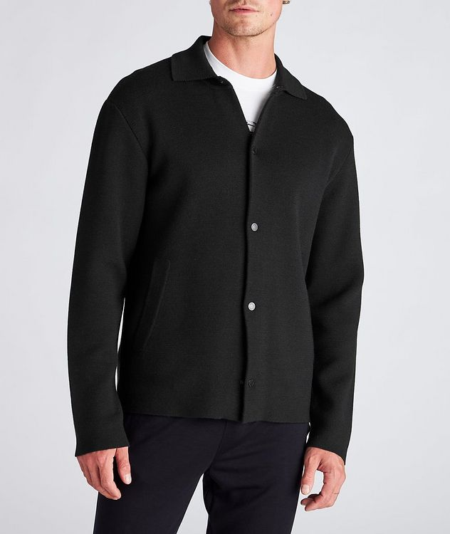 Recycled Wool-Blend Knit Overshirt picture 2