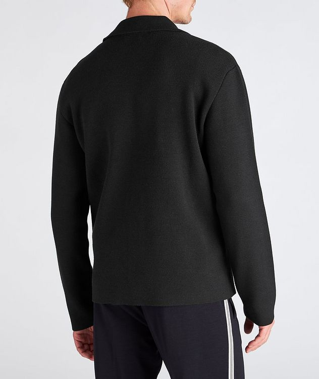 Recycled Wool-Blend Knit Overshirt picture 3