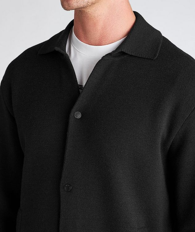 Recycled Wool-Blend Knit Overshirt picture 4
