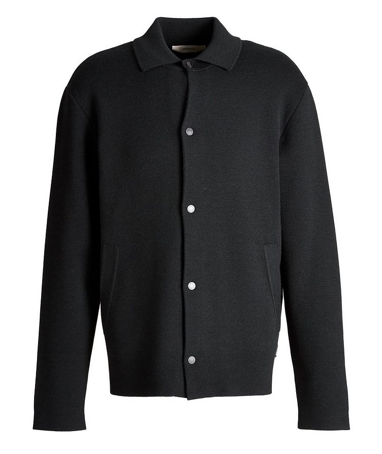 Recycled Wool-Blend Knit Overshirt image 0