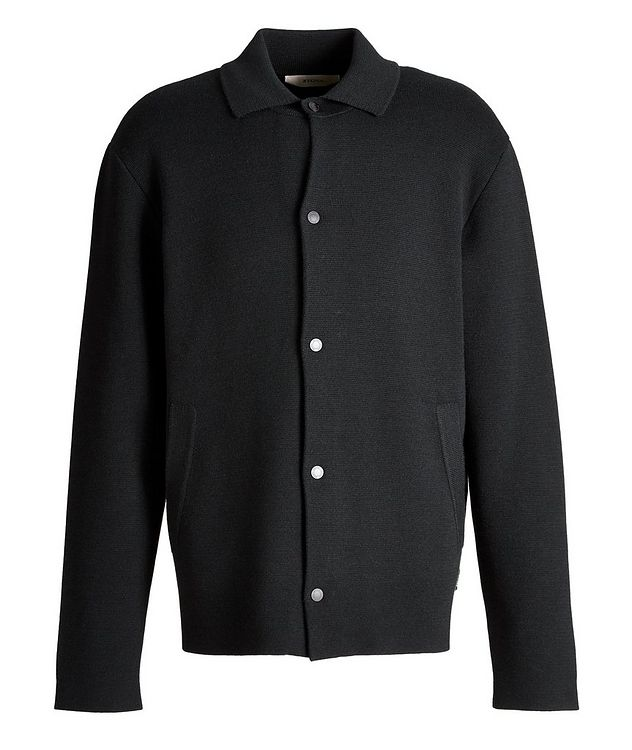Recycled Wool-Blend Knit Overshirt picture 1