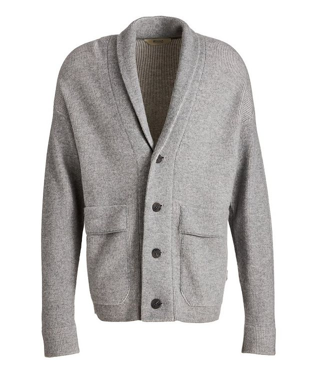 Recycled Wool-Cashmere-Blend Cardigan picture 1