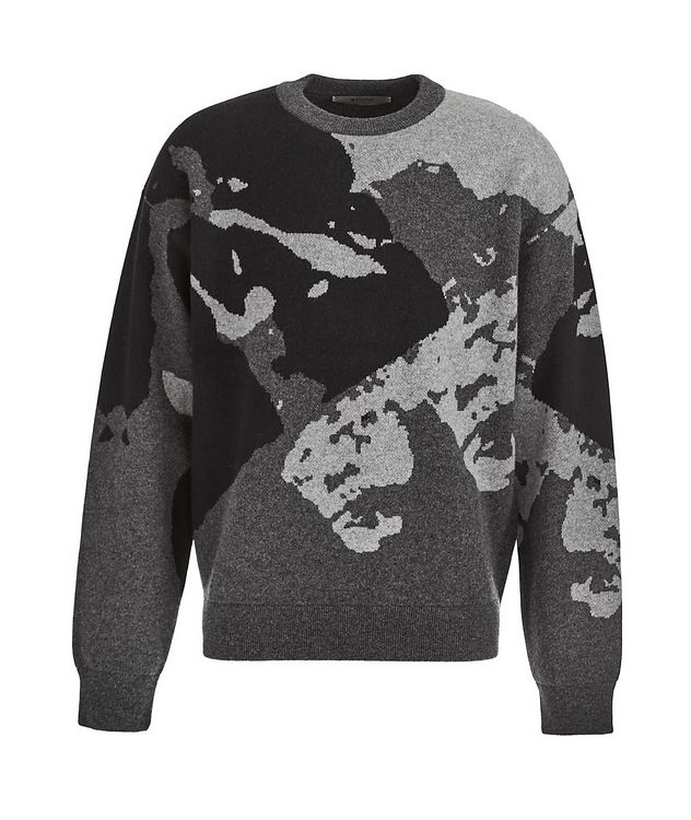 Camouflage Recycled Wool-Cashmere Sweater picture 1