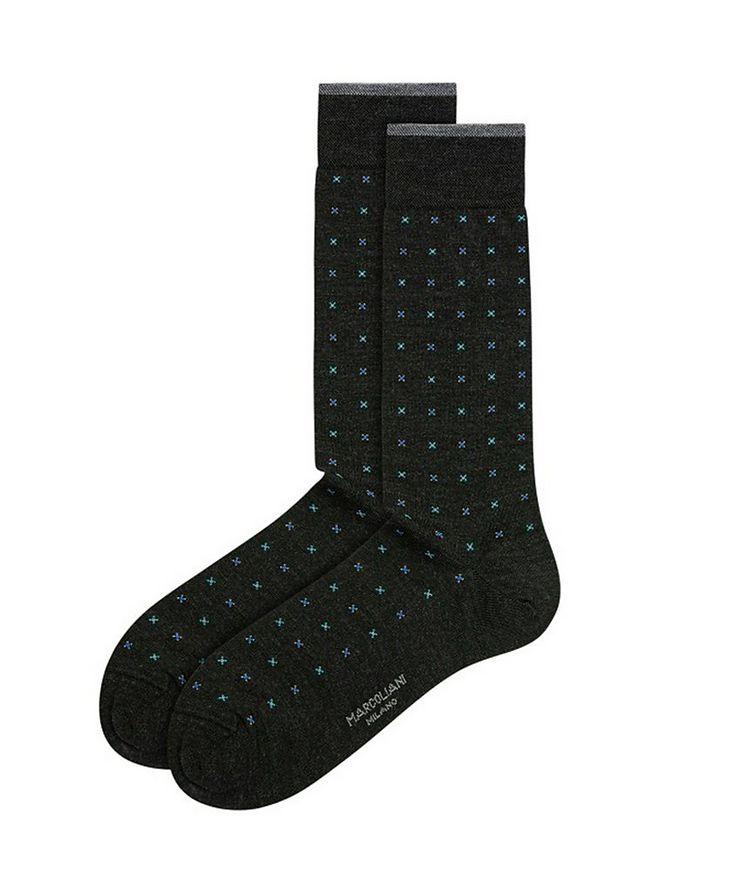 Printed Wool-Blend Socks image 0