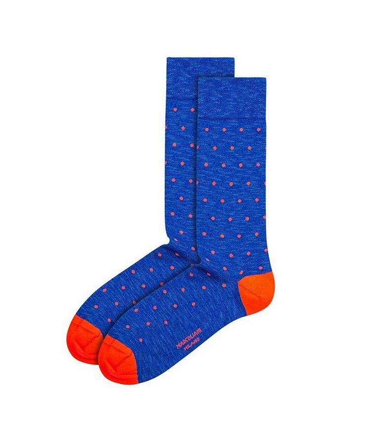 Polka-Dotted Cotton-Blend Socks image 0