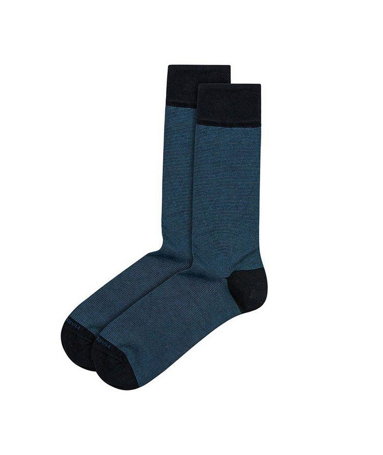 Microstriped Cashmere-Blend Socks image 0